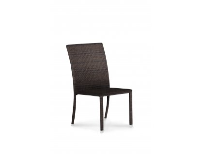 Eco Brisbane Chair full weaved white leather no cushion