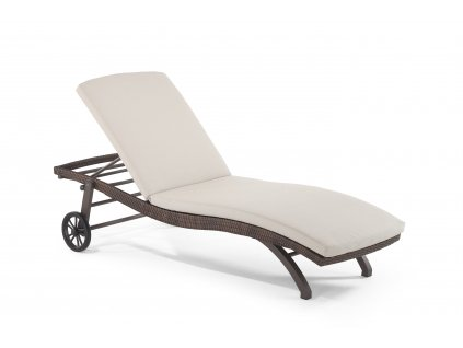 Pallanza Stackable Sunlounger Coffee Mix 7x1.6 Olefin Latte MG 2475