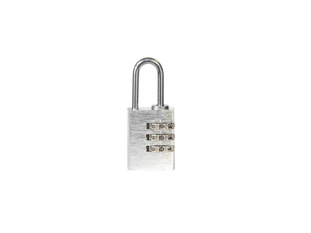 Hliníkový visací kódový zámek (malý) - stříbrný