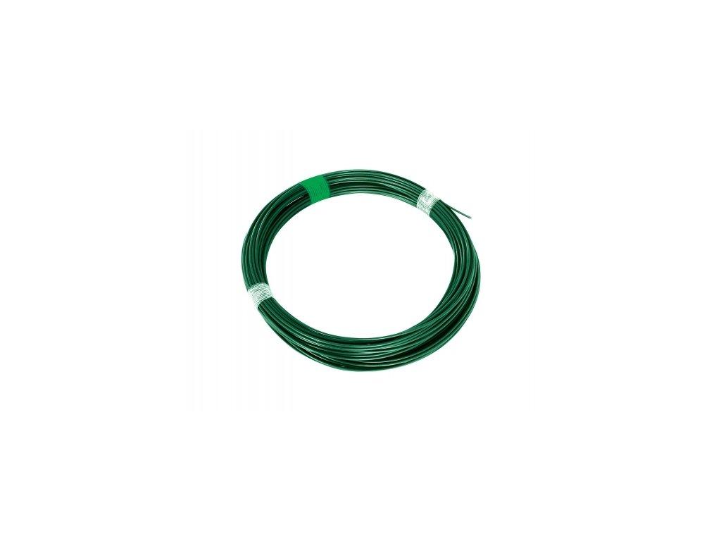 Napínací drát 3,4 poplastovaný, zelený - 26 m