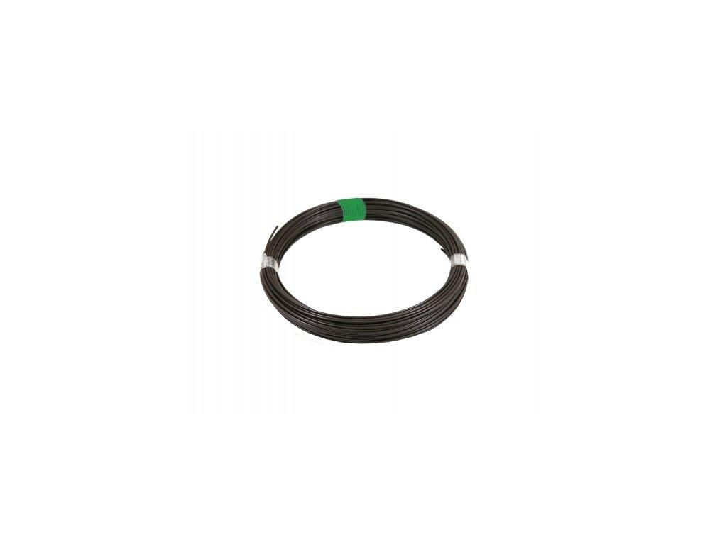 Napínací drát 3,4 poplastovaný, hnědý - 78 m