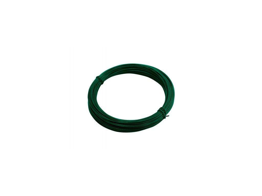 Vázací drát 1,4 poplastovaný, zelený - 24 m