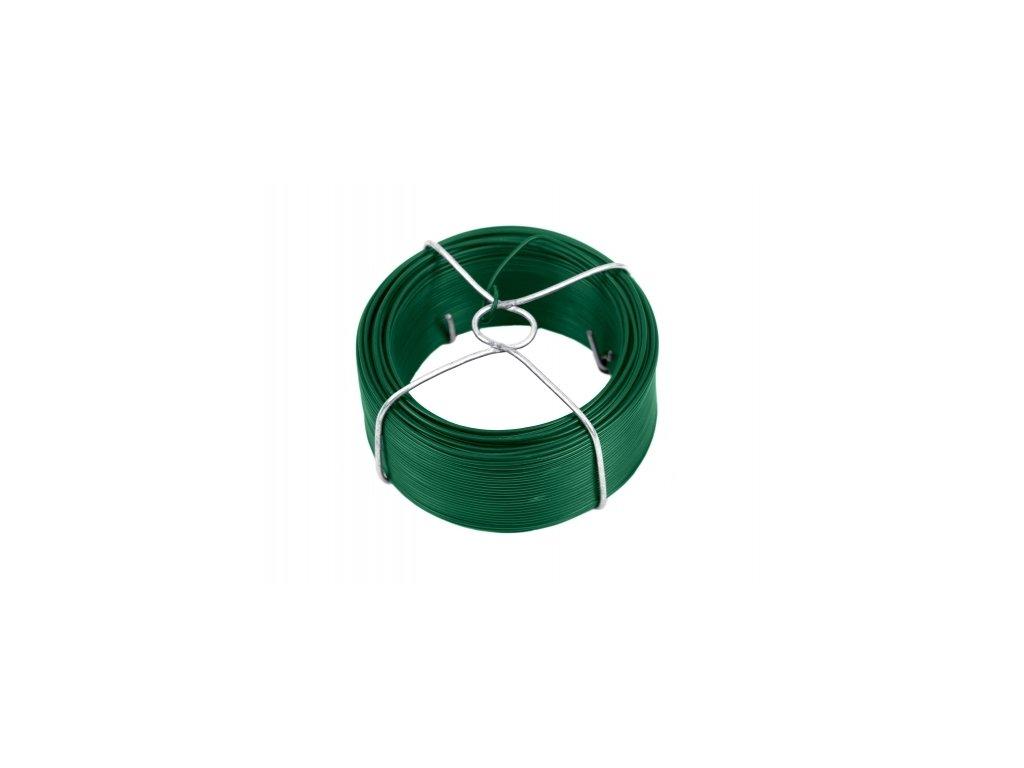 Vázací drát 1,4 poplastovaný, zelený - 60 m