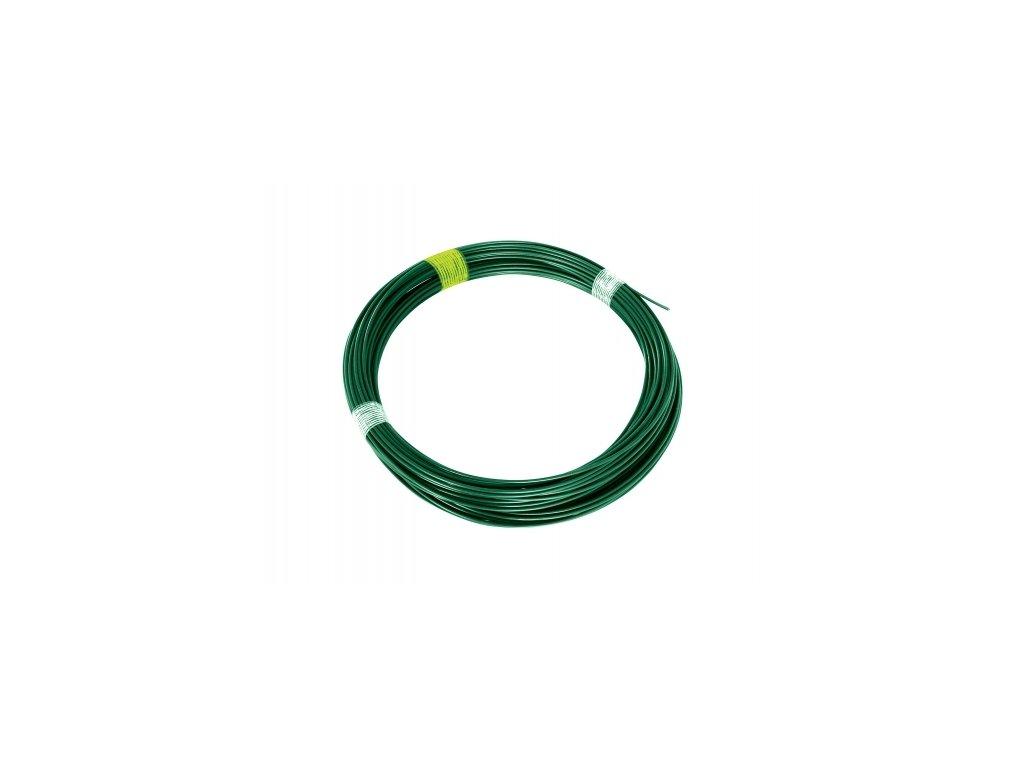 Napínací drát 3,4 poplastovaný, zelený - 44 m