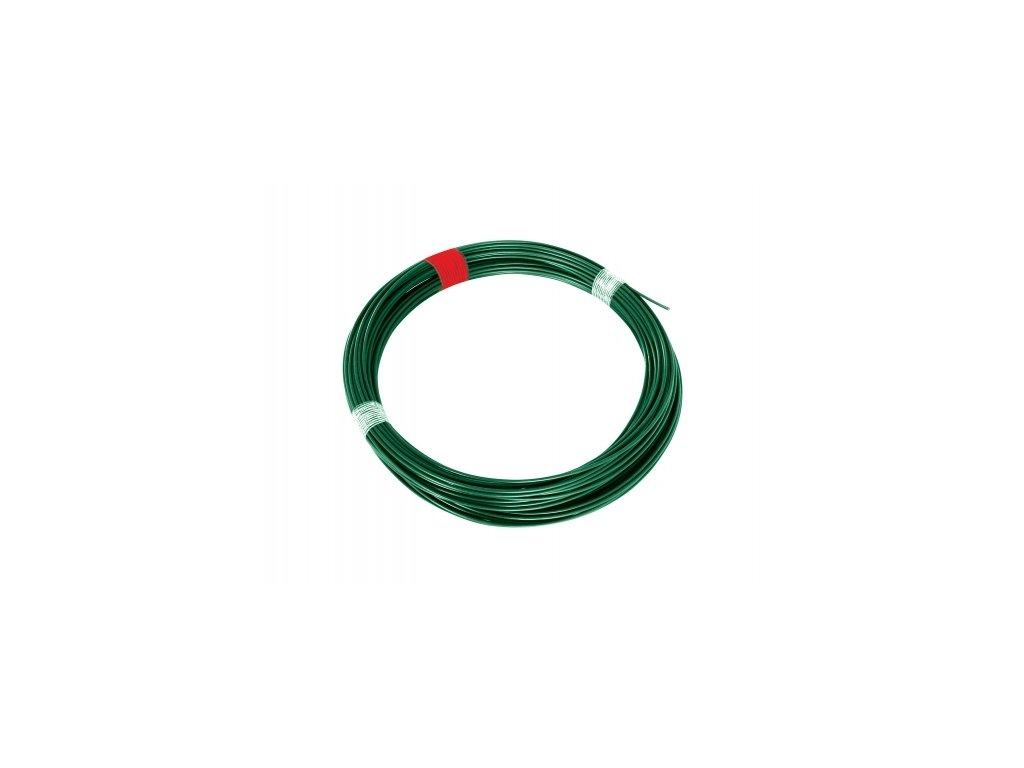 Napínací drát 3,4 poplastovaný, zelený - 66 m