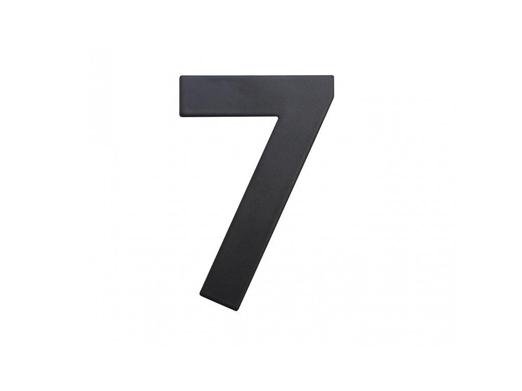 Domovní číslo - 7, ČERNÉ 2D, 75 mm - RICHTER CZECH RN.75L.7.CE
