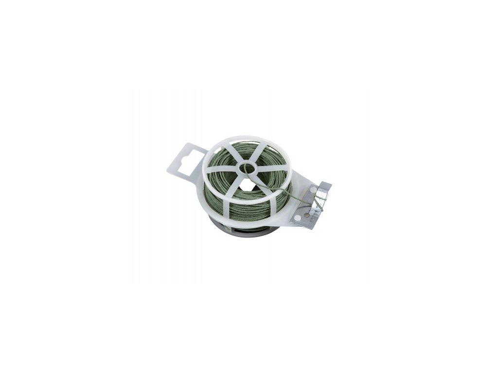 Vázací drát (ZN + PVC) s odstřihem, kulatý - 50 m