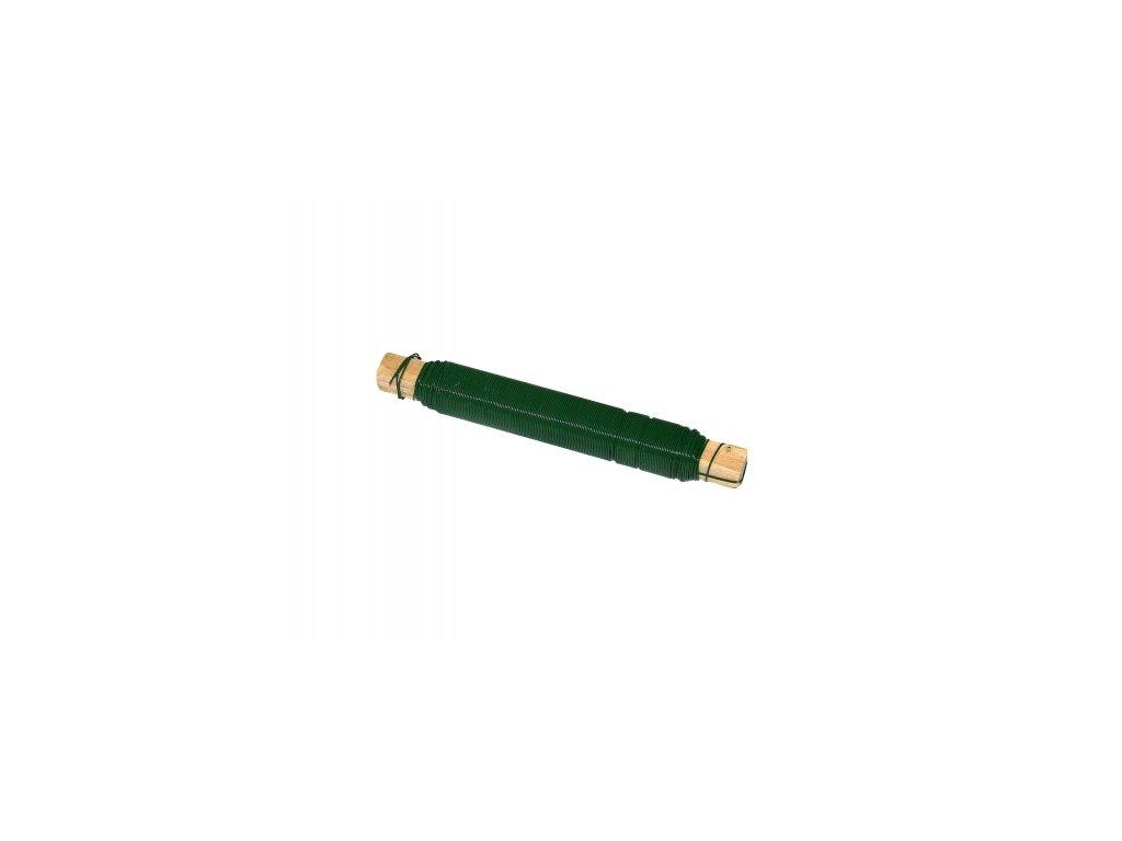Drát na dřívku - zelený