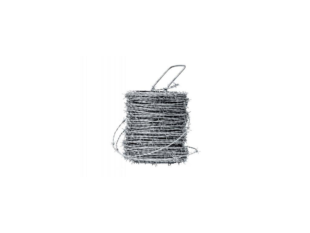 Ostnatý drát pozinkovaný - 50 m