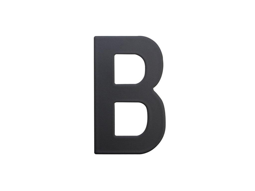 Domovní číslo - B, ČERNÉ 2D, 75 mm - RICHTER CZECH RN.75L.B.CE