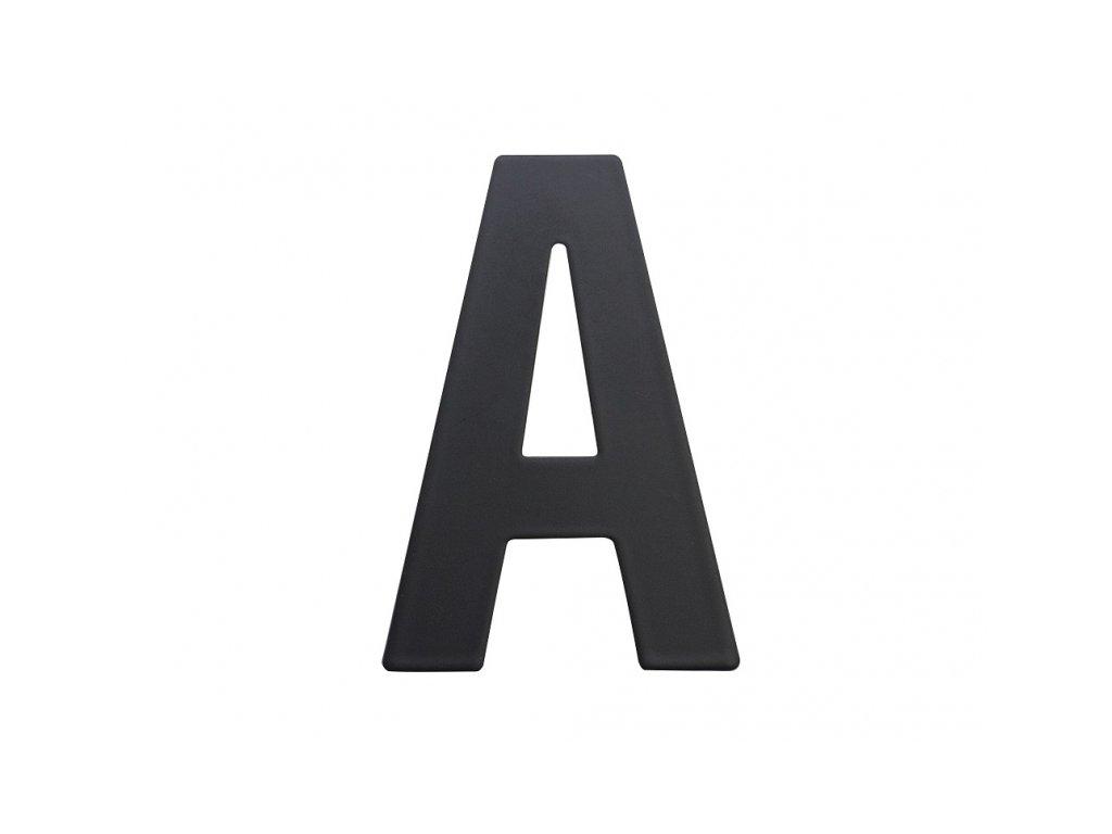 Domovní číslo - A, ČERNÉ 2D, 75 mm - RICHTER CZECH RN.75L.A.CE