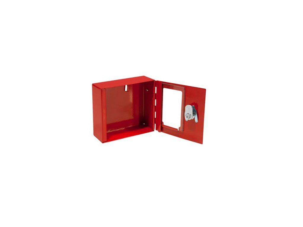 Ocelová skříňka se sklem - bez kladívka