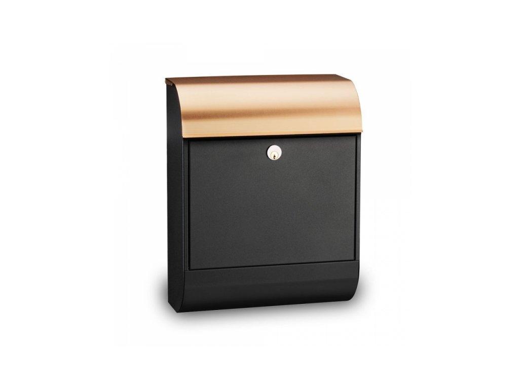 Poštovní schránka Pearl - černá/měď