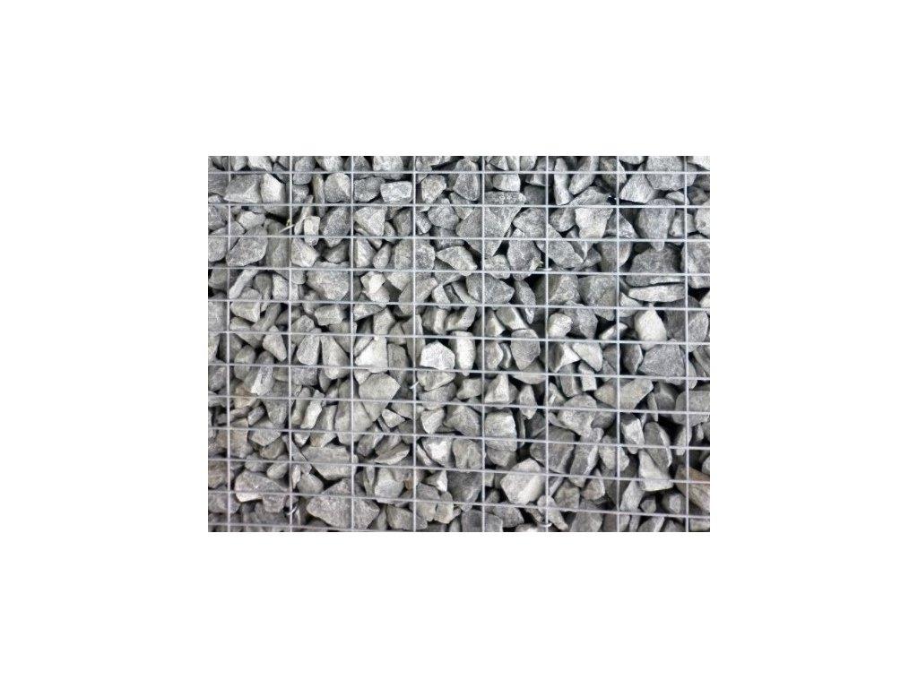 Gabionová stěna 10x5cm, sypaný plot