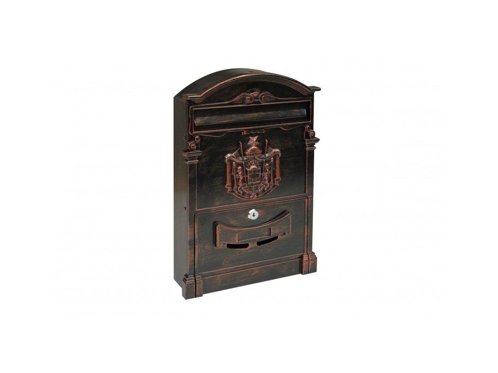 Poštovní schránka BK301.CC - černočervená