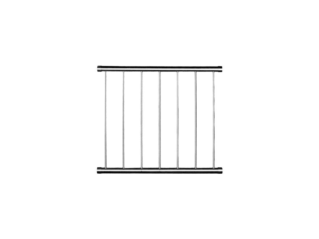 Set zábradlí pro francouzské okno SVISLÉ, nerez - mezi špalety