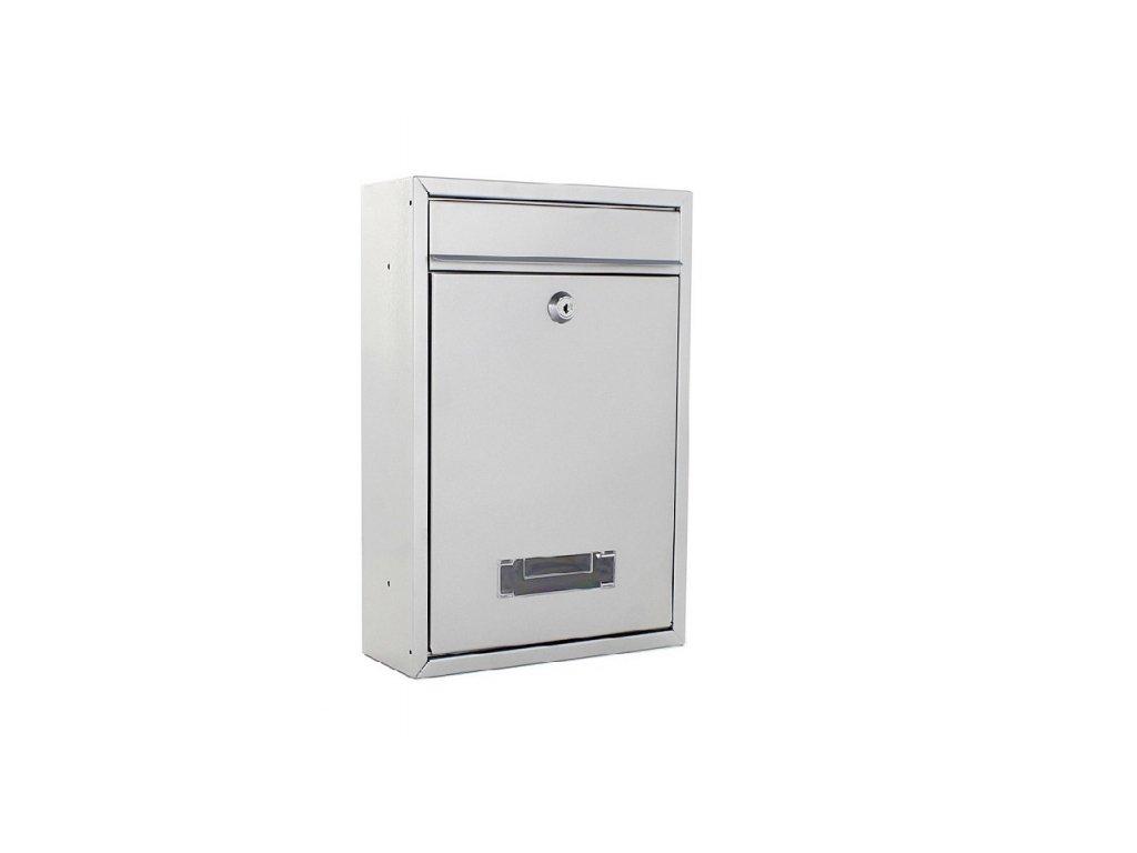DOMYS e-shop: Poštovní schránka TARVIS stříbrná