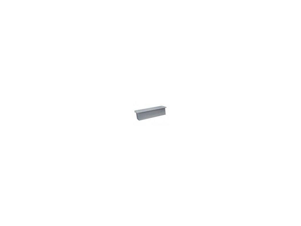 Box na noviny stříbrná