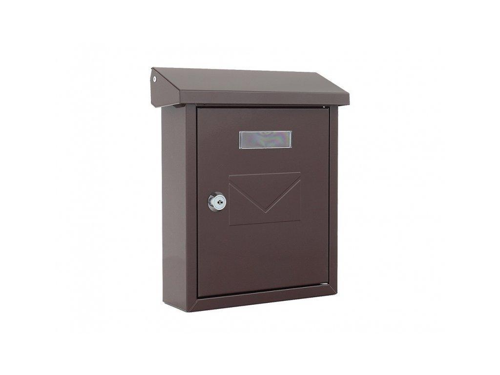DOMYS e-shop: Poštovní schránka CESENA mini - hnědá