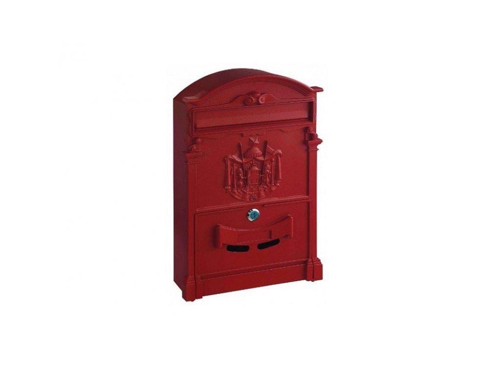 Poštovní schránka ASHFORD červená