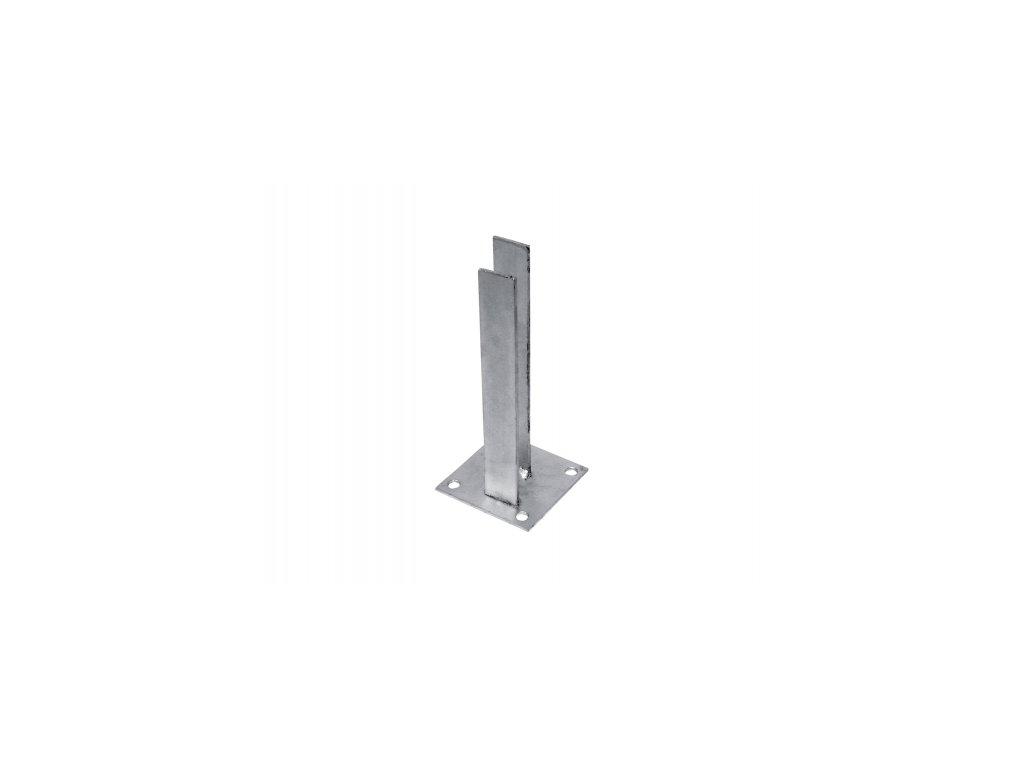 Platle k montáži sloupku NA BETONOVÝ ZÁKLAD - pro sloupky profilu 60×60 mm