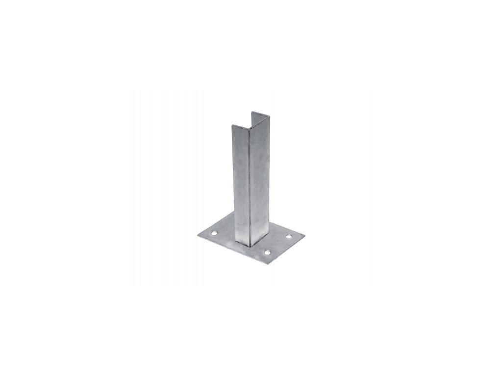 Platle k montáži sloupku NA BETONOVÝ ZÁKLAD - pro sloupky profilu 60×40 mm
