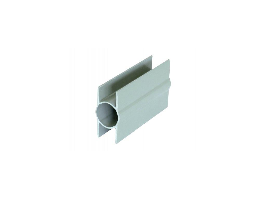 Držák podhrabové desky PVC (plastový) - průběžný, výška 20 cm, průměr 48 mm