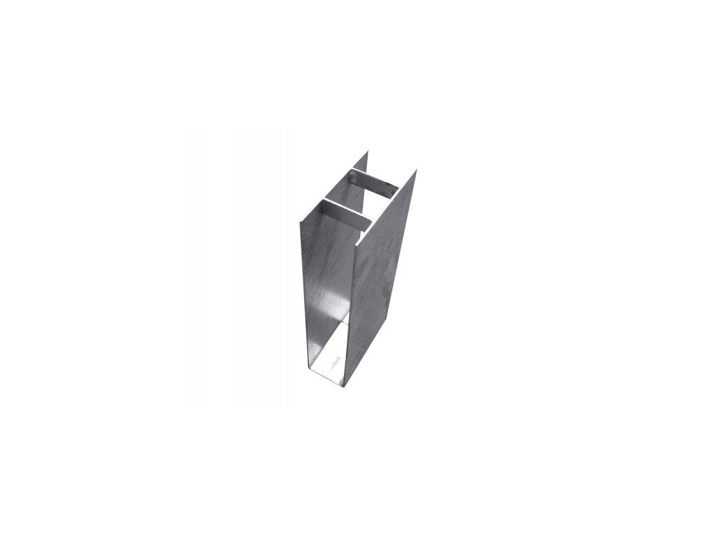 Držák podhrabové desky ZN (zinkovaný) - průběžný, výška 30 cm, průměr 48 mm