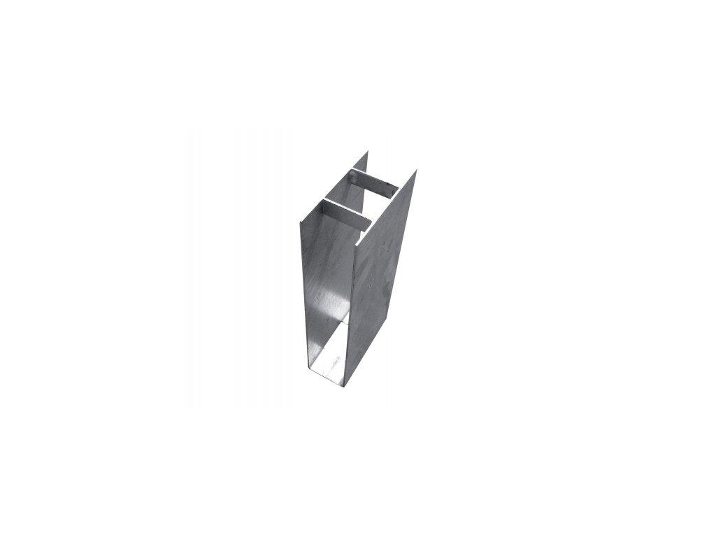 Držák podhrabové desky ZN (zinkovaný) - průběžný, výška 20 cm, průměr 48 mm