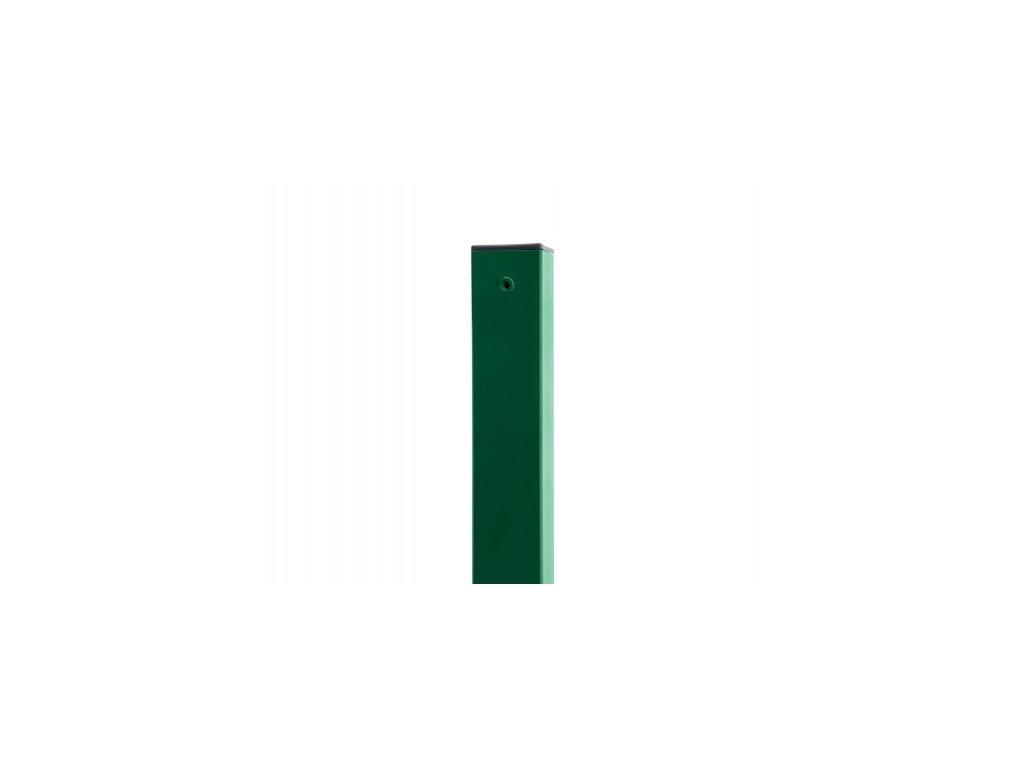 Sloupek ZELENÝ (ZN+PVC) 60x60 mm - 240 cm