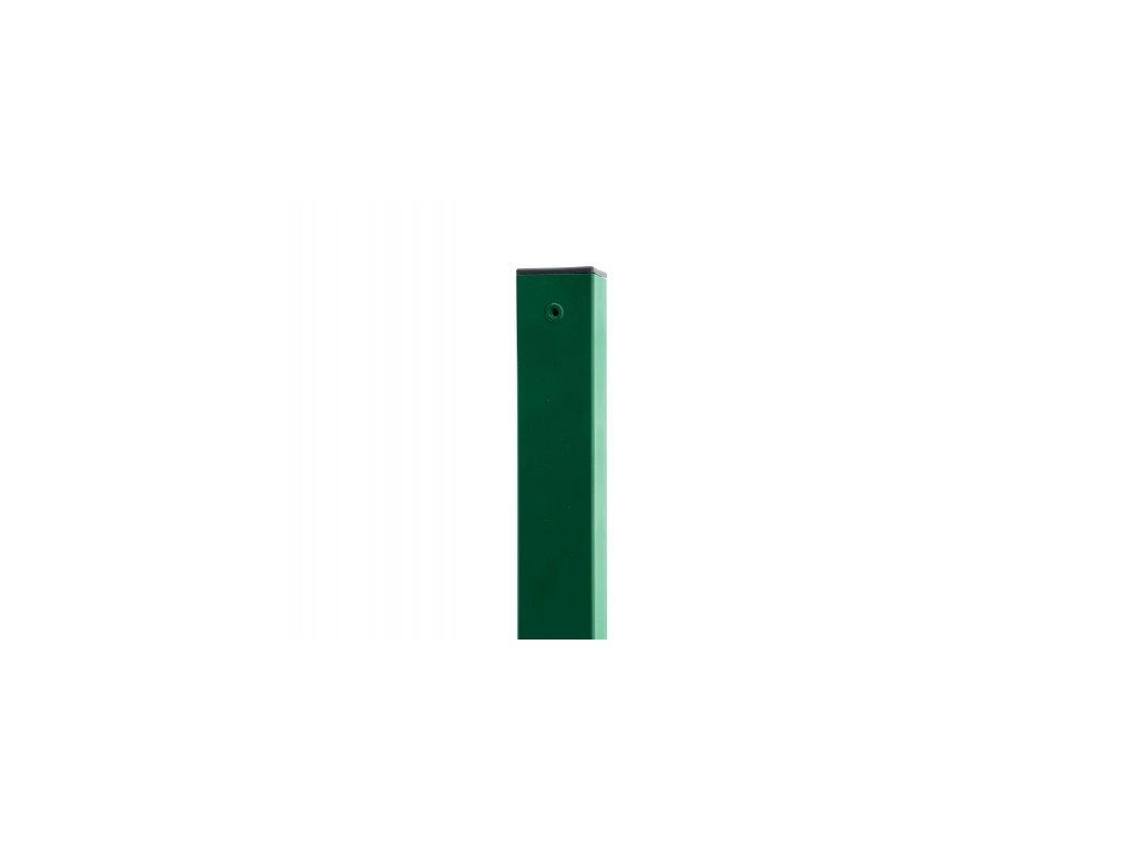 Sloupek ZELENÝ (ZN+PVC) 60x60 mm - 200 cm