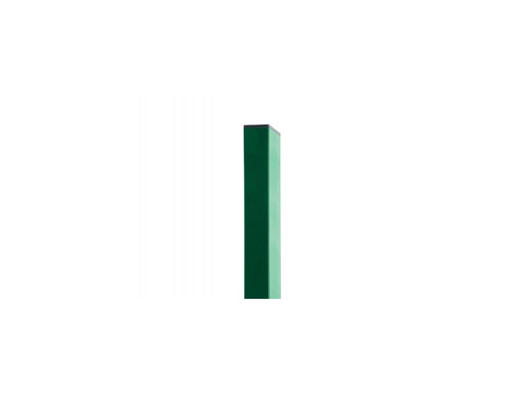 Sloupek ZELENÝ (ZN+PVC) 60x40 mm - 200 cm
