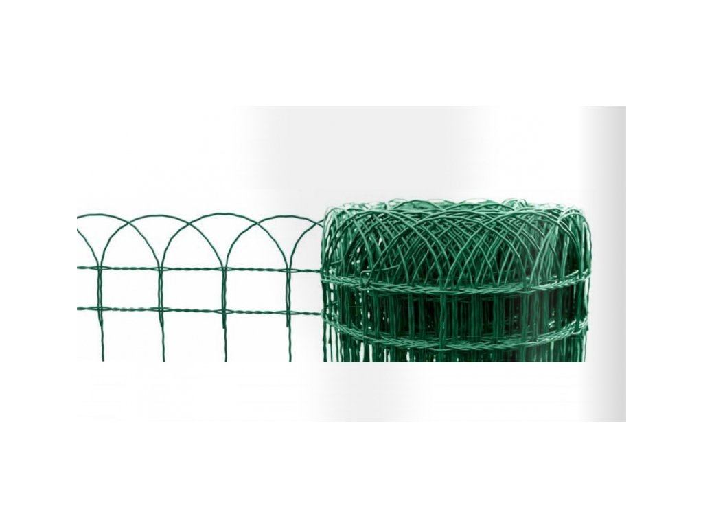 Dekorační pletivo (ZN+PVC), ZELENÉ