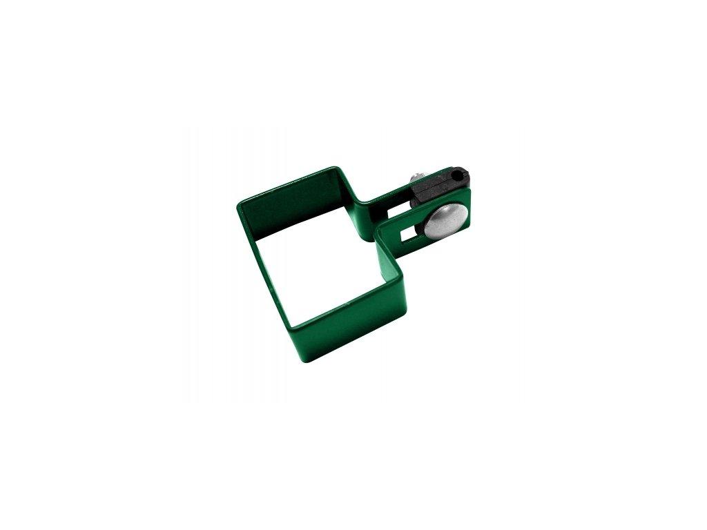 DOMYS e-shop: Koncová objímka na sloupek 60x40 mm - ZELENÁ