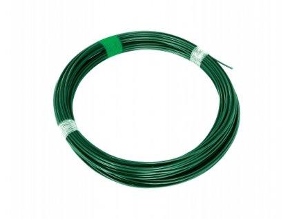 Napínací drát 3,4 poplastovaný, zelený - 78 m