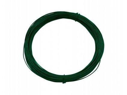 Vázací drát 2,0 poplastovaný, zelený - 50 m
