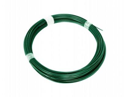 Napínací drát 3,4 poplastovaný, zelený - 52 m