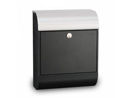 Poštovní schránka Pearl - černá/nerez