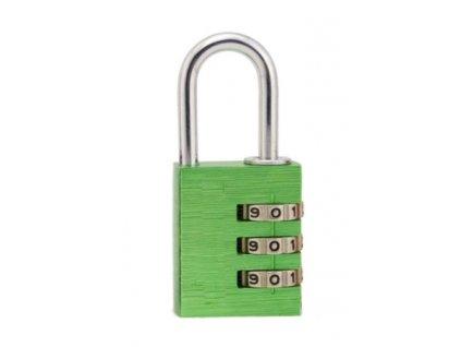 Hliníkový visací kódový zámek - zelený