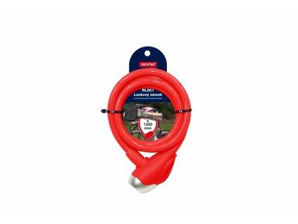 Lankový zámek RL561 - červený