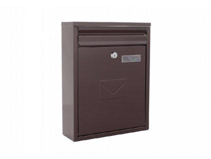 DOMYS e-shop: Poštovní schránka COMO hnědá
