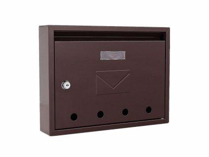 DOMYS e-shop: Poštovní schránka IMOLA hnědá
