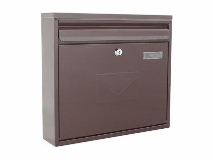 DOMYS e-shop: Poštovní schránka TERAMO hnědá