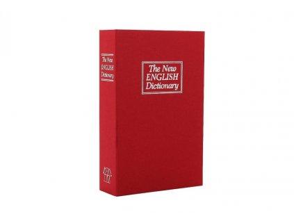 DOMYS e-shop: BOOKCASE červená bezpečnostní schránka