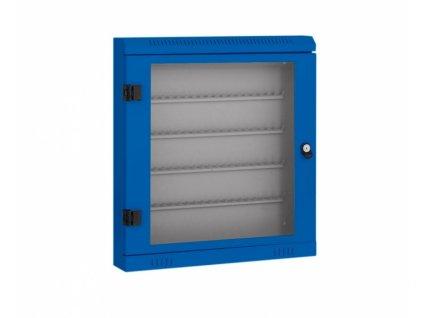 Skříňka na klíče - 100 háčků, modrá