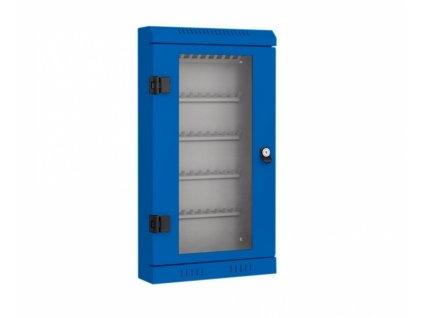 Skříňka na klíče - 50 háčků, modrá