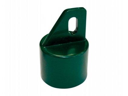 Koncovka na vzpěru (AL + PVC), zelená - 38 mm