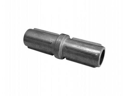 Nástavec pro sloupek, stříbrný - 48 mm