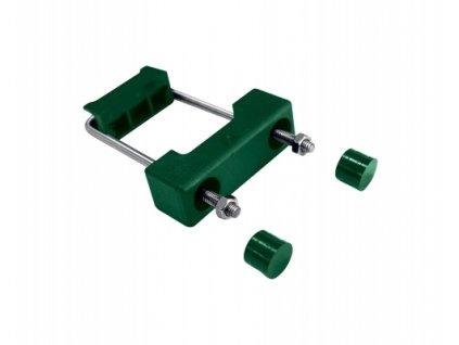 Objímka PVC pro uchycení panelů ke sloupku 60x40 mm - ZELENÁ