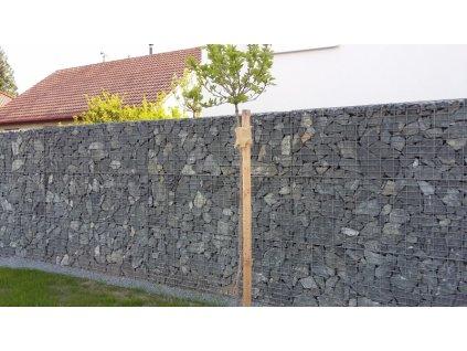 Gabiony - GABIONOVÁ STĚNA 10x5cm